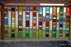 beautiful fused glass wall.  I can just picture the sun shining through!