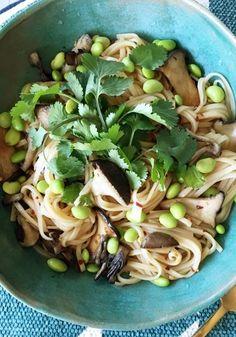 Edamame and Glass Noodles via refinery29 #Noodles #Edamame #Healthy