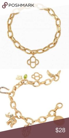 Signature Gold Charm Bracelet by Stella & Dot Stella And Dot Jewelry, Stella Dot, Keepsakes, Jewelry Bracelets, Plating, Charms, Display, Link, Unique