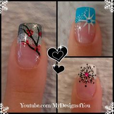 3 Winter French Tip Nail Designs | Winter Nail Art Ideas #mydesigns4you