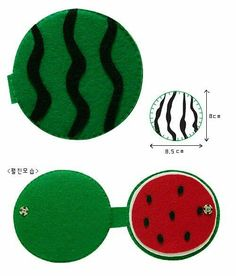Watermelon, inside and out Crafts & Cia: felt or EVA