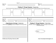 Reading Log for Thinking and Responding...get your students thinking about their reading each night instead of just mindlessly writing the page number and getting a signature.