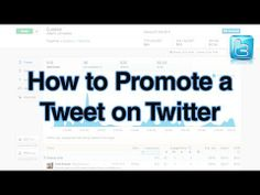 How to Promote a Tweet on Twitter - http://360phot0.com/how-to-promote-a-tweet-on-twitter/