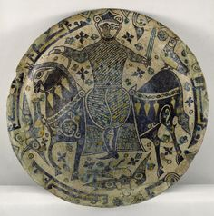 North-eastern Iran (Nishapur) Pergamonmuseum, Staatliche M… Ancient Persian, Ancient Art, Ceramic Clay, Ceramic Plates, Middle East Culture, Iranian Art, Objet D'art, Berlin, Earthenware