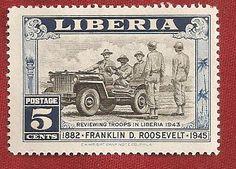 Franklin D. Roosevelt stamp from Liberia.