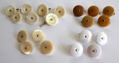 Mother of Pearl Shank Buttons x11 With Metal Clips PLUS 5x Stone & 4x…