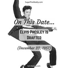 On This Date: Elvis Presley Is Drafted (December On This Date, Elvis Presley, December, Dating, Twitter, Movie Posters, Movies, Quotes, Films