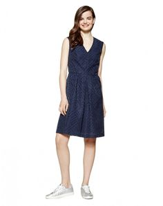 BENETTON.Abito con gonna svasata - VESTITI - DONNA