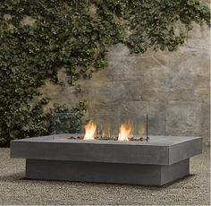 Laguna Concrete Natural Gas Fire Table- Rectangle from Restoration Hardware. Shop more products from Restoration Hardware on Wanelo. Metal Fire Pit, Concrete Fire Pits, Concrete Fireplace, Gas Fireplace, Portable Fireplace, Fireplace Garden, Concrete Table, Camping Gaz, Restoration Hardware Outdoor