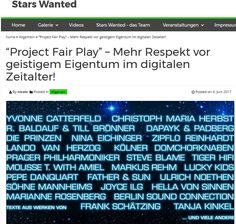 Project Fair Play auf stars wanted