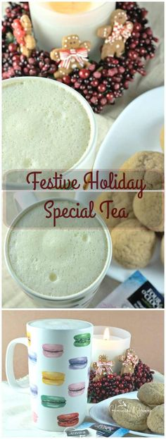 Festive Holiday Special Tea is a latte made with gingerbread tea and eggnog. Taste the flavours of the holidays in one drink!! | homemadeandyummy.com