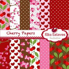"""12 High Resolution 300dpi papers JPG´s  Each digital papers is : 12"""" x 12"""""""