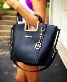 Black and gold MK bag Designer Handbags 2013-2014 leather handbags,summer handbags, vintage designer handbags, #Discounthandbaghub.com