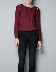 TOP WITH SHOULDER BUTTONS - Shirts - Woman - ZARA United States