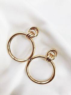 """18K Gold Filled 2/"""" pompons Oeil Fleur Rubis Topaze Larme Femmes Boucles D/'oreilles SW"""