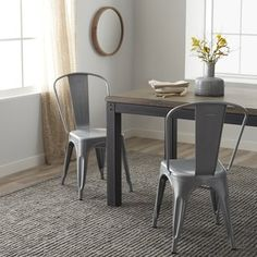 Tabouret Bistro Steel Dining Chairs (Set of 2) | Overstock.com Shopping - The Best Deals on Dining Chairs