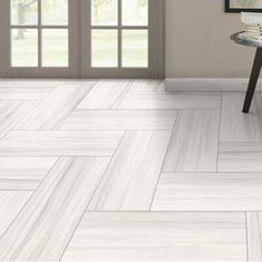 Emser Tile Ciudad x Ceramic Mosaic Tile Color: Gray Herringbone Tile Floors, Wood Tile Floors, Grey Flooring, Hardwood Floors, Modern Flooring, Faux Wood Tiles, Living Room Flooring, Bedroom Flooring, Kitchen Flooring