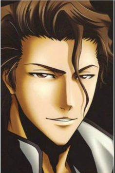 BLEACH Aizen Sousuke. Hate to admit it but the fan art makes him look really hansom.