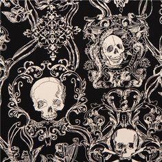 skull heavy oxford fabric black Skullduggery Alexander Henry 2