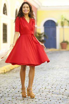 Ali Wrap Red Dress