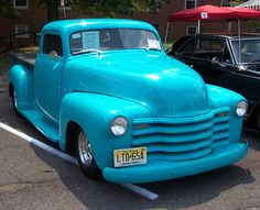 1948 Chevy Pickup, Love the color in fact we painted our accent walls this color & it's beautiful with blk & white pics hung on the wall