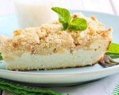 Gâteau léger au fromage blanc, pommes et biscuits petits-beurre