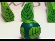 Φυλλαράκια μιλεφιόρι! - Cernit Polymer Clay Tutorial - Leaf Cane