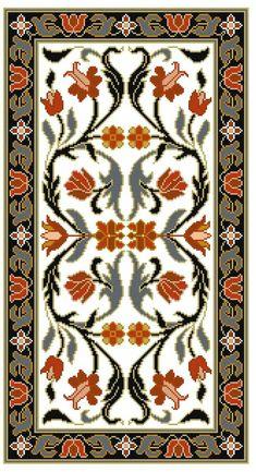 5 Highlights of The Luxury Design & Craftsmanship Summit 2018 - Houses interior designs Beaded Cross Stitch, Cross Stitch Art, Cross Stitch Designs, Cross Stitching, Cross Stitch Embroidery, Embroidery Patterns, Cross Stitch Patterns, Carpet Design, Border Design