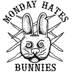 #monday #bunnies #blackandwhite