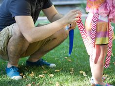 Whip up these DIY flag football flags in a jiff so the whole family can get in on some Sunday football action this fall. Games For Kids, Art For Kids, Activities For Kids, Flag Football, Educational Crafts, Craft Projects For Kids, Fine Motor Skills, Kids Fashion, Fun