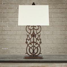Fielding Table Lamp in Rust | Arhaus Furniture