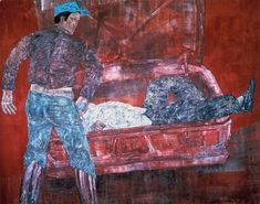"White Squad (El Salvador) IV 1983 Acrylic on canvas 305 x 386 cm   120 x 152"""