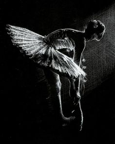 Drawing - white pencil on black paper