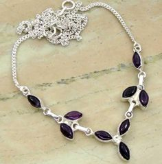 6.75ctw Genuine Amethyst & .925 Sterling Silver Plated Brass Necklace (SJHN0081ACAB) #silvernecklace #silvernecklacesforwomen #necklacesilver #necklacependants #necklacejewelry #sterlingsilvernecklace #jewelrynecklaces #handmadenecklaces #silvernecklaces #longsilvernecklace #personalizednecklaces #womensnecklace #silvernecklaceformen #menssilvernecklace #mennecklaces #mensnecklaces #gemstonenecklace #gemstonenecklaces Buy Now…