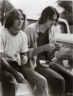 Dennis Wilson and James Taylor, from Two Lane Blacktop