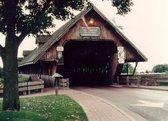 Frankenmuth's (Michigan?) numerous festivals bring thousands of visitors across Zehnder's Wooden Bridge every year.   In addition to two lanes for automobile traffic, the bridge also has two pedestrian walkways.