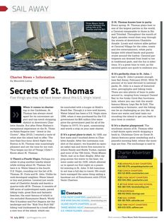 Hurray! Three Moons Yacht is in Sail Magazine Today! - Charter Yacht Three Moons