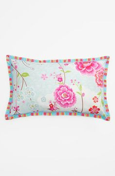 PiP studio 'Birds in Paradise' Pillow available at #Nordstrom. too pricey, but pretty. LOVE pink & flowers. the other side is a different print. if interested, click on the pillow. it's worth a look = ).