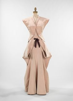 Evening Dress, Evening Gown, Splendid Evening Dress Design, Fashion Designer, Evening Dress Designer, Miracle Gown    Charles James (American, born Great Britain, 1906–1978)  Date: 1945 Culture: American Medium: silk