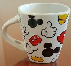 Mickey Mouse Body Parts Jerry Leigh Square Coffee Mug Cup - NO SPOON | eBay Disney Coffee Mugs, Coffee Mugs Vintage, Disney Mugs, Cute Coffee Mugs, I Love Coffee, Disney Mickey Mouse, Coffee Cups, Coffee Mug Display, Coffee Mug Quotes