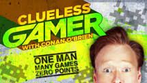 Conan Obrien / Clueless Gamer / watch as ConAn tries to play video games  http://teamcoco.com/video/clueless-gamer-minecraft-07/24/12  http://teamcoco.com/video/clueless-gamer-conan-obrien-reviews-tomb-raider  http://teamcoco.com/video/clueless-gamer-conan-obrien-reviews-halo4