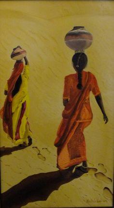 """oil painting """"Women of the desert"""""""