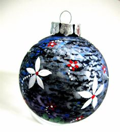 painted glass ornament