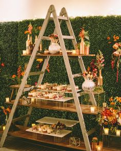 25 perfekte Hochzeit Dekoration Ideen mit Vintage Ladders 25 Perfect Wedding Decor Ideas With Vintag Chic Wedding, Trendy Wedding, Wedding Ideas, Wedding Reception, Fall Wedding, Wedding Rings, Reception Backdrop, Reception Food, Wedding Catering