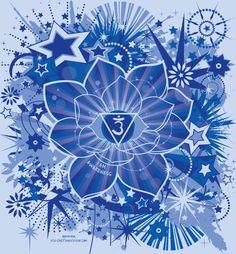 Sahasrara 6° chakra ou le Troisième œil : la couleur de ce chakra est l'indigo. Il est situé sur l'arcade sourcilière et posé légèrement au-dessus et entre les sourcils. Il est en rapport avec la vision du réel, l'intuition, la capacité de discrimination et de choisir ses options. C'est le pardon.