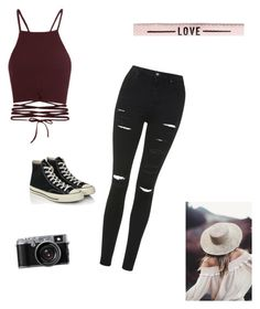 """Untitled #5"" by isamoro on Polyvore featuring Topshop and Converse"