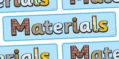 Materials Display Banner - materials, science, banner, display