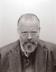 A very weathered looking Orson Welles in May 1985, five months before he died. (Photo: Michael O'Neill)