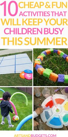 Activities that will keep children busy during the Summer | cheap activities for kids | cheap activities for kids dollar tree | cheap activities for kids budget | cheap activities for kids summer ideas | cheap activities for kids indoors | cheap activities for toddlers