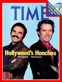 CITY HEAT - Burt Reynolds and Clint Eastwood on the cover of Time Magazine - January 1978 issue.